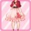 FFG Short Sleeved Sakura Poncho red