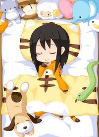 Animal Pajamas Tiger w. Sheets set