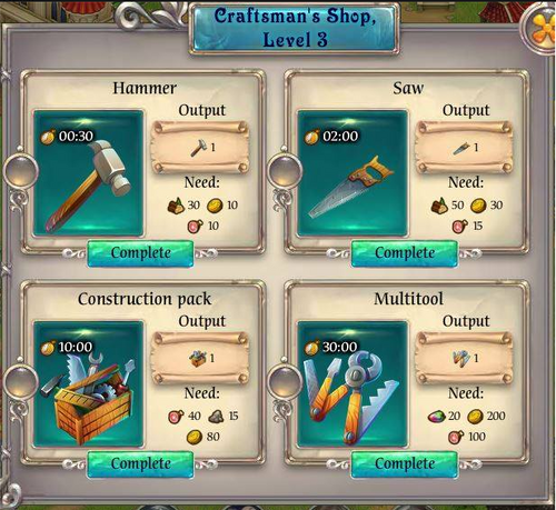 Craftsman's Shop complete
