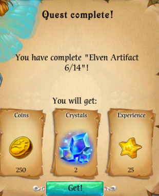 Fairy Kingdom --Elven Magic 6 of 14 reward