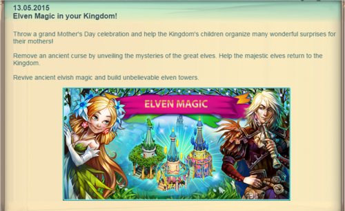 Fairy Kingdom --Elven Magic Announcement