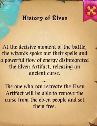 Fairy Kingdom --Elven Magic 8 of 14 task (reading Story of Elves translation)