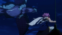 Natsu vs. Rogue and Motherglare