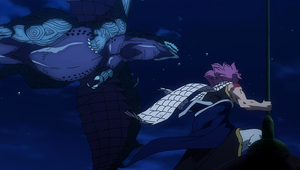 Natsu vs. Rogue and Motherglare