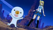 Plue is summoned by Lucy