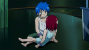 Jellal saves Erza