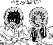 Gray and Natsu arrive to the Tower of Heaven