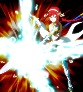 Erza using Lighting Armor Staff