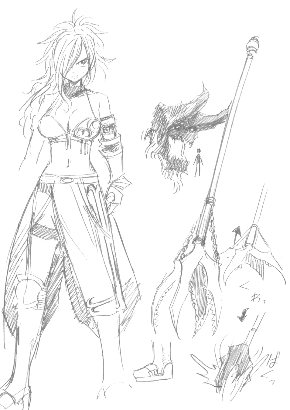 Image - Early sketches of Erza Knightwalker.jpg | Fairy ...
