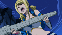 Lucy being forced to give the hand