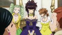 Kagura wearing a dress