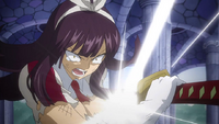 Kagura unsheathes her sword