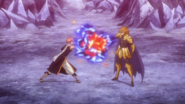 Eclipse Leo absorbing Natsu's flames