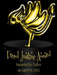 Freed Justine Award 1