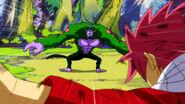 Natsu attacks the Gorian