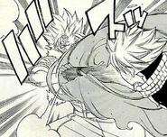 Sting blocks Natsu's Iron Fist