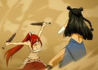 Erza strikes Minerva