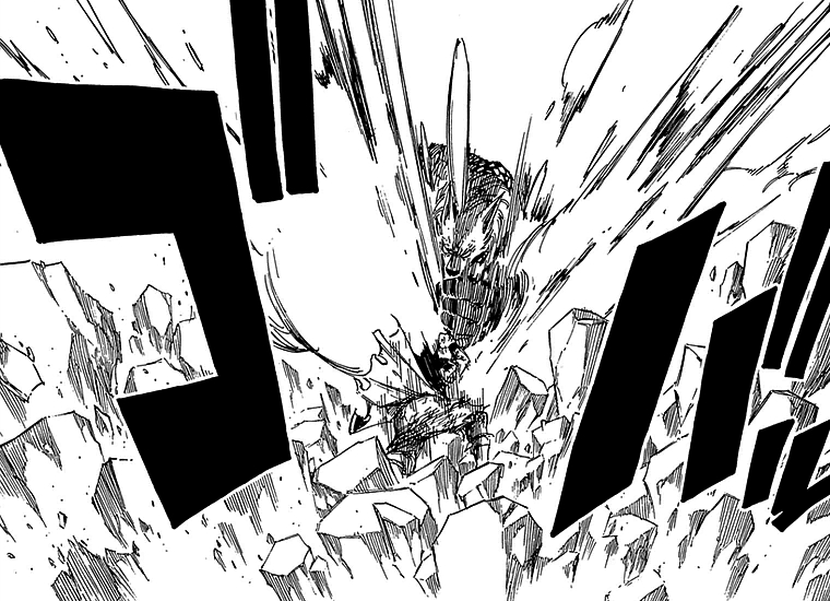 Image - Etherious Form Jackal strikes Natsu.png | Fairy Tail Wiki ...