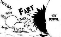 Plue farting