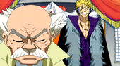 Laxus trying to force him to resign from the position of Master