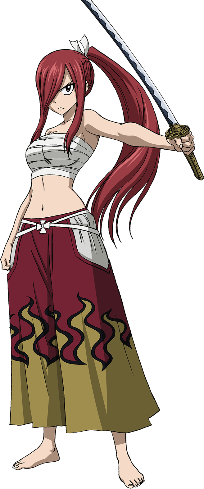 Image erza anime fairy tail wiki fandom - Robe de mariee bustier transparent ...