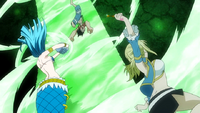 Lucy defeats Uosuke
