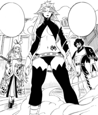Ikaruga, Kyôka and Azuma Historias stand against Erza.png