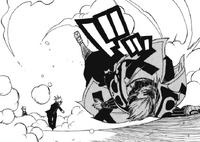 Loke defeats Bickslow (manga)