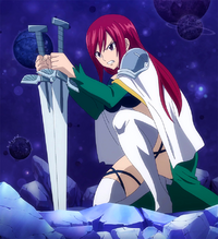 Erza struggles against the beast