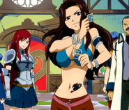 Cana destroys the Call Gildarts Card