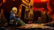 Éclair confronted by Makarov
