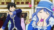 Gray freaked out by Juvia