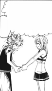 Lucy gives Natsu another book
