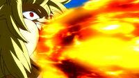Zancrow eats Natsu fire