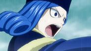 An angry Juvia attacking
