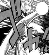 Laxus punches Wall