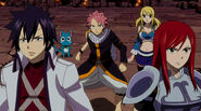 Team Natsu about to battle