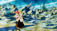 Natsu takes Lucy back to the guild