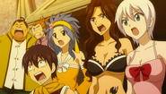 Fairy Tail sees Laxus struck by Jura