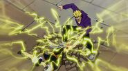 Natsu slammed to the ground by Laxus