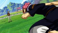 Natsu attacks Max again