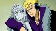 Laxus takes Lucy and other girls as a hostages