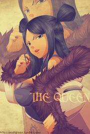 The Queen anafigreen