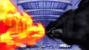 Natsu and Future Rogue clash