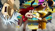 Erza beats Haru and Natsu