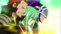 Gildarts clive fried justine bixlow group team everyone fairy tail guild anime