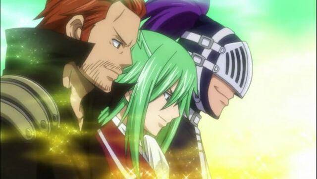 File:Gildarts clive fried justine bixlow group team everyone fairy tail guild anime.jpg