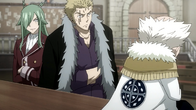 Freed and Laxus sitting next to eachother