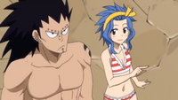 Gajeel and Levy Following the Exeeds