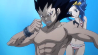 Gajeel Protects Levy